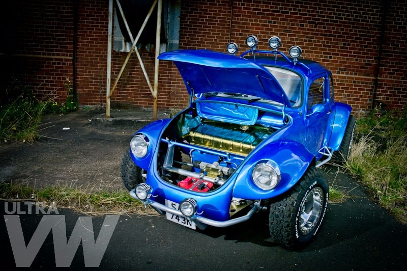custom car build - blue Beetle - custom built