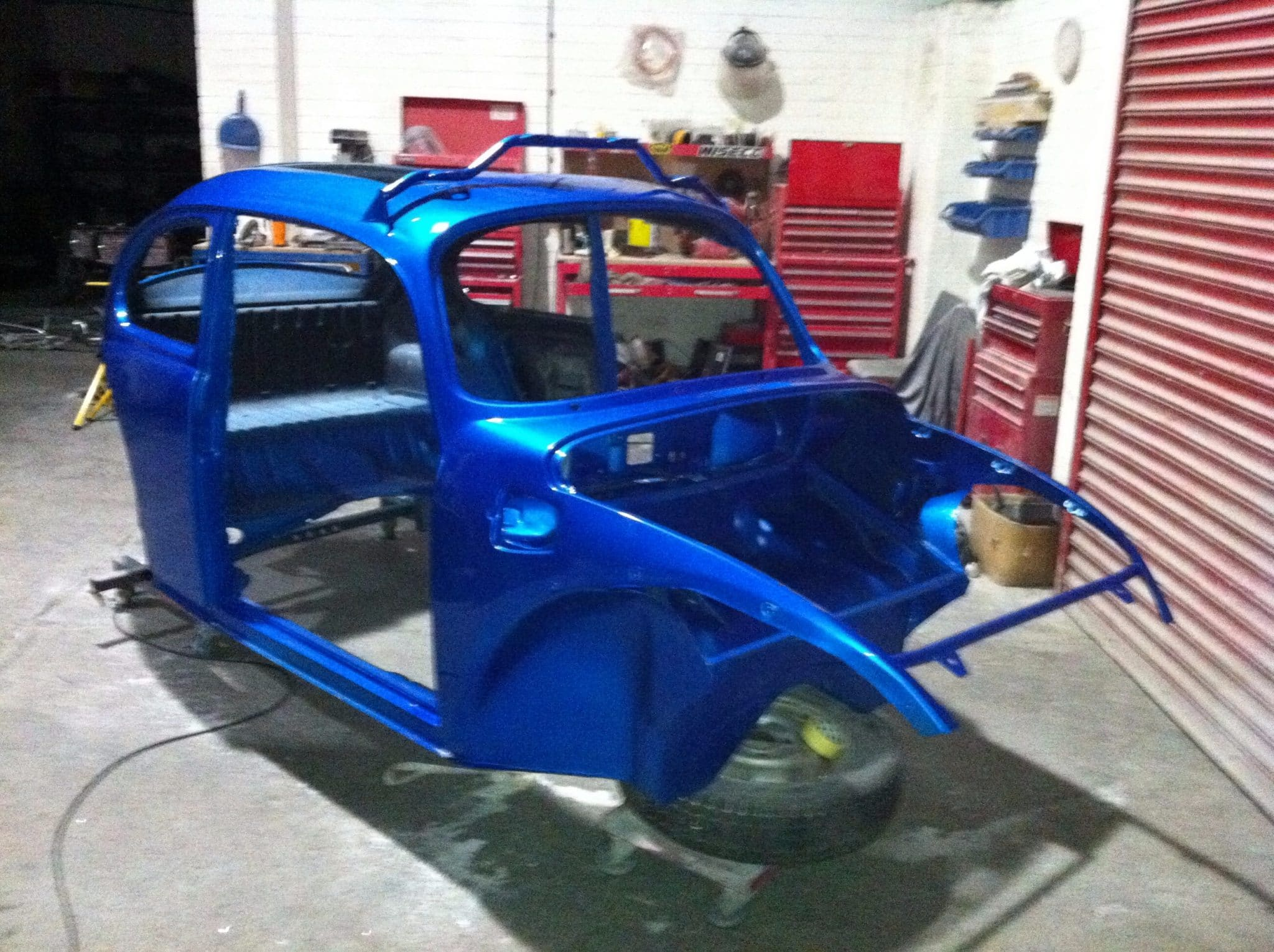 Beetle blue frame - stripped down