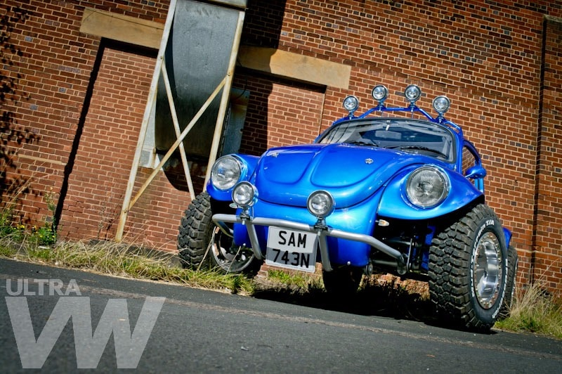 monster truck style Beetle restoration - blue