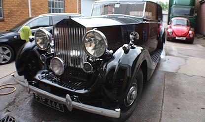 Rolls Royce restoration - black - finished product