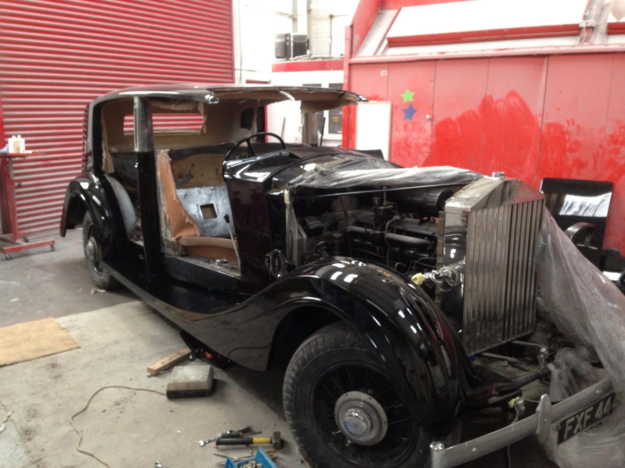 Rolls Royce pps restoration - black in progress