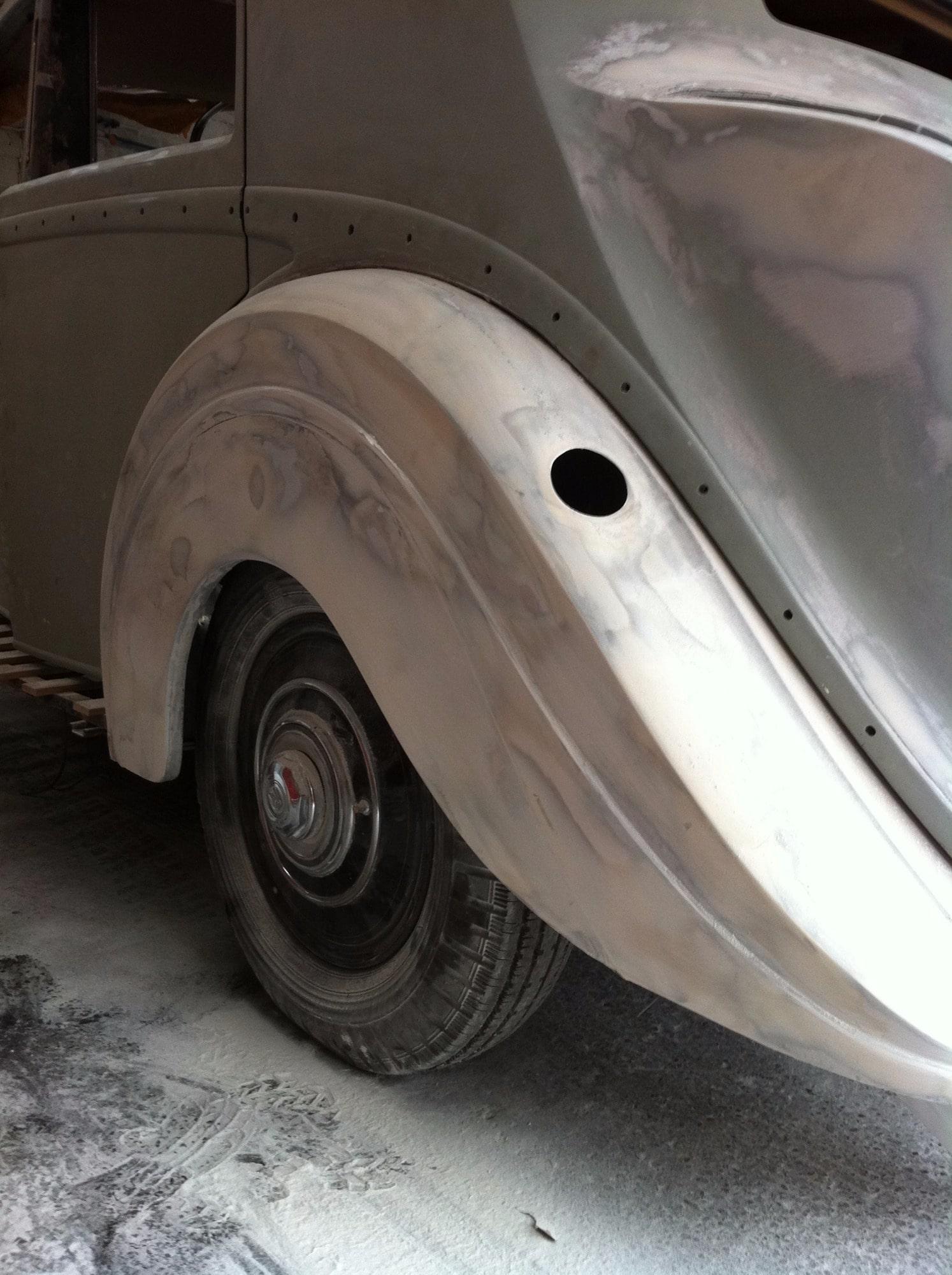 Rolls Royce stripped wheel arch