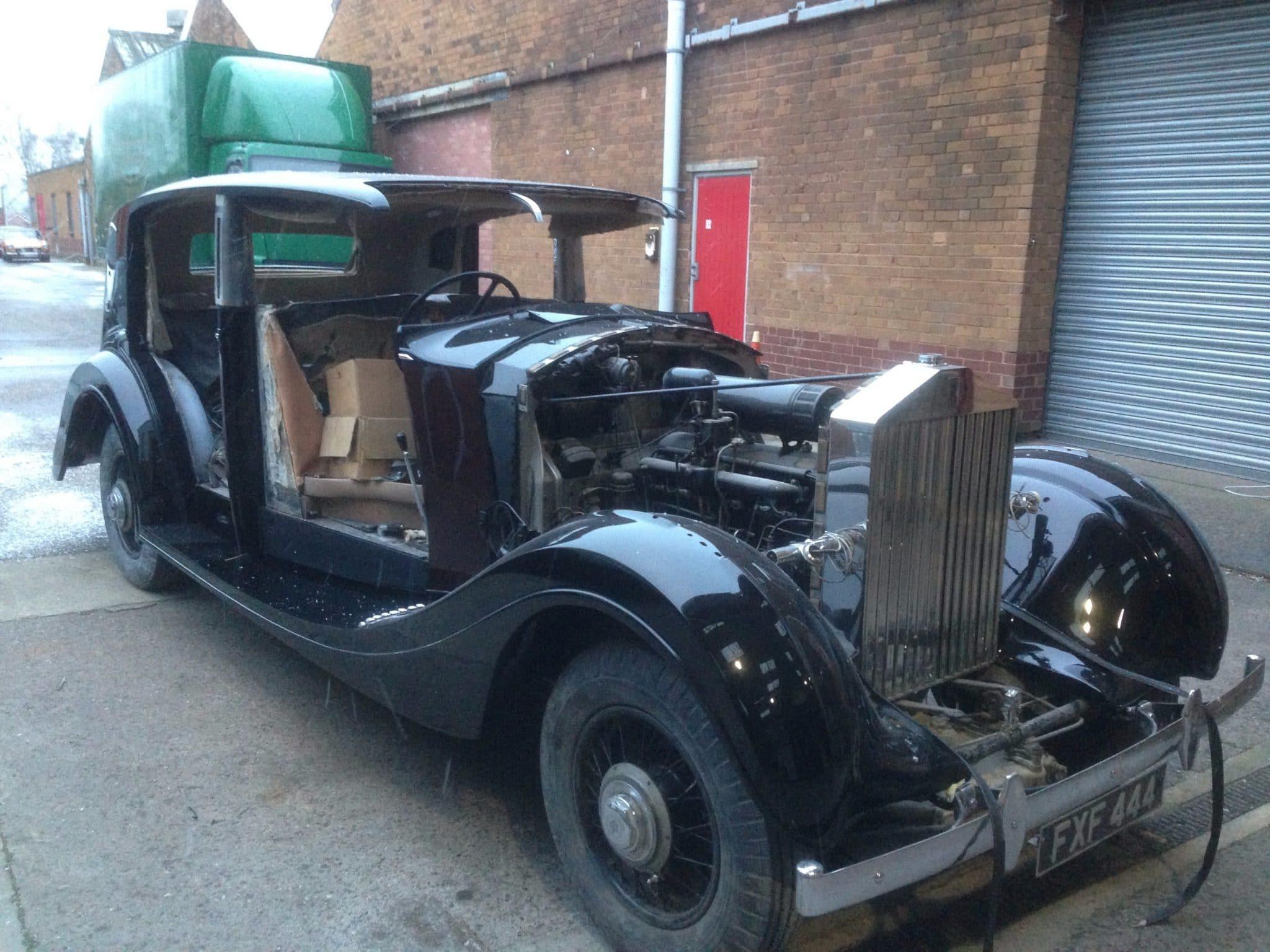 Black Rolls Royce restoration