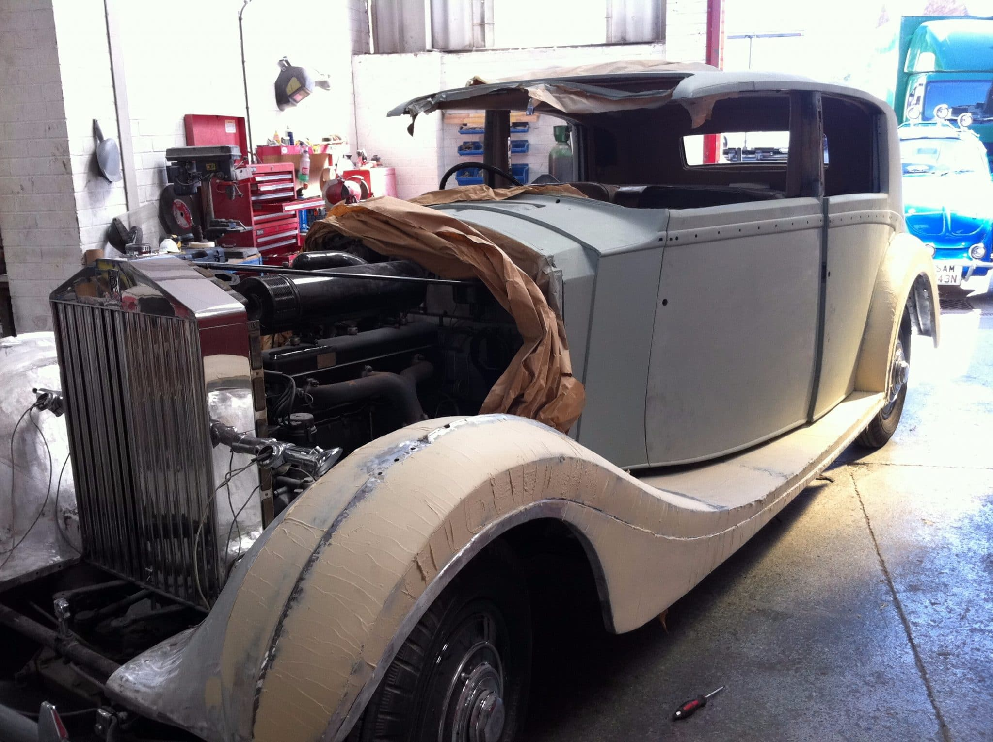 Rolls Royce wraith engine removed