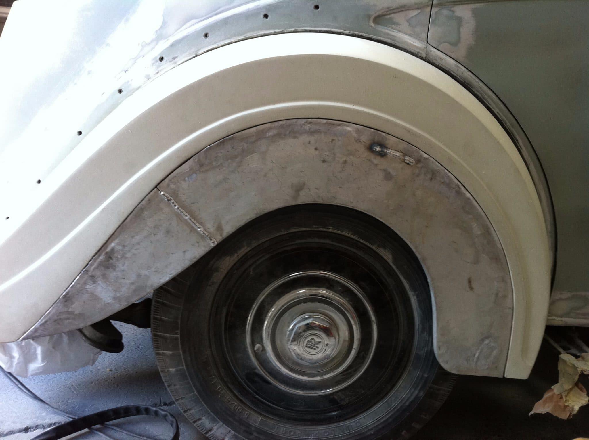 stripped paintwork wheel arch