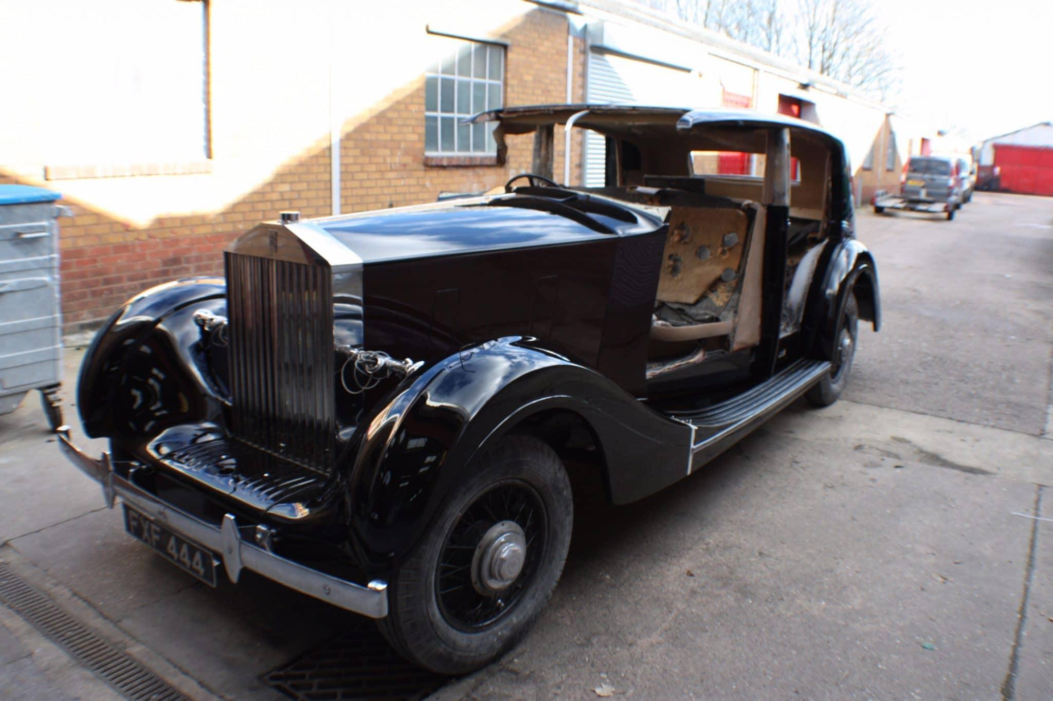 Rolls Royce restoration - no doors