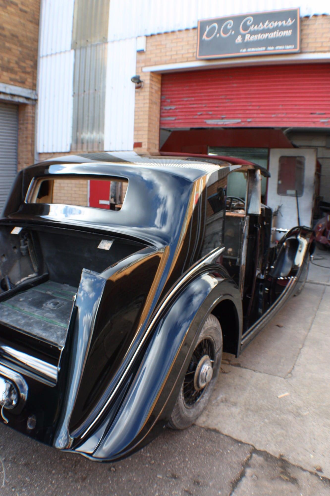 back end Rolls Royce restoration
