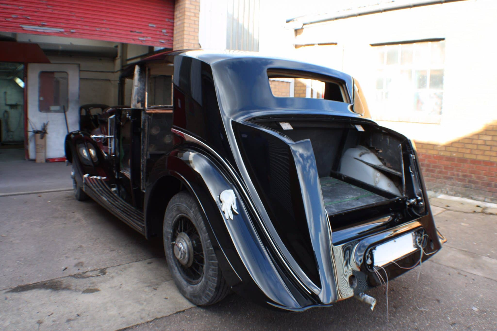 Rolls Royce restoration - back view