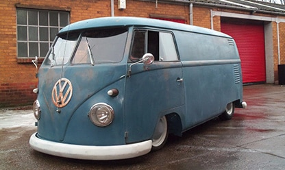 old VW camper van - blue