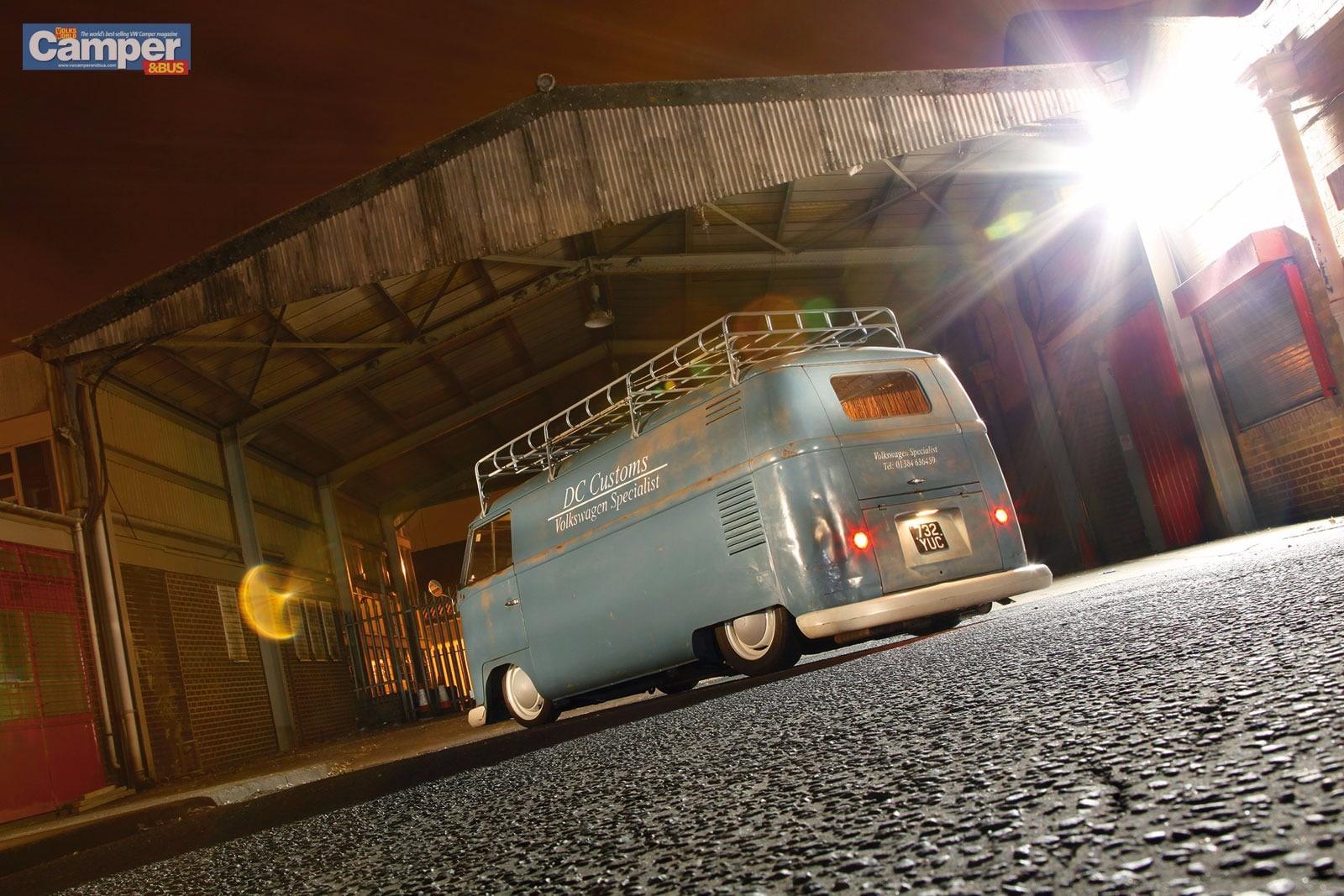 Volkswagen specialist - camper van side view - evening image