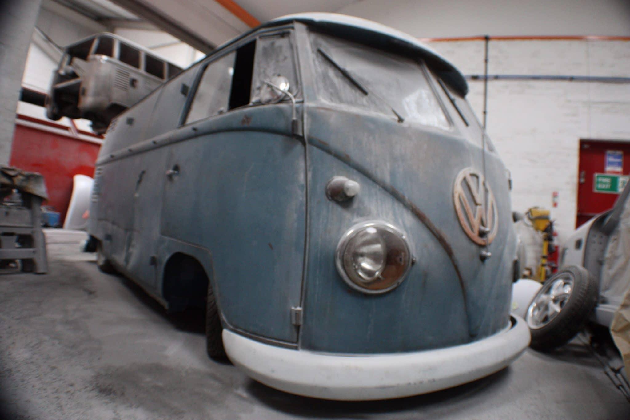 VW camper van in process of restoration