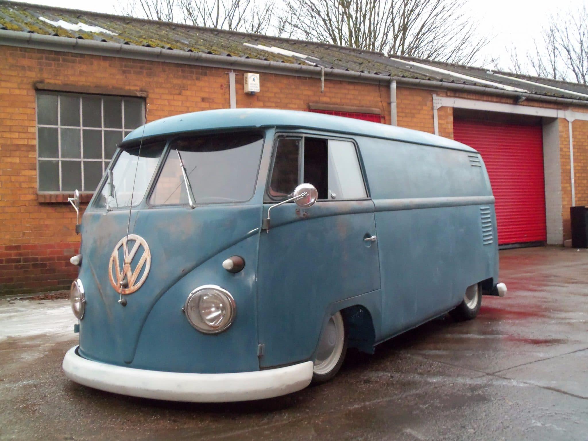 VW camper van before restoration