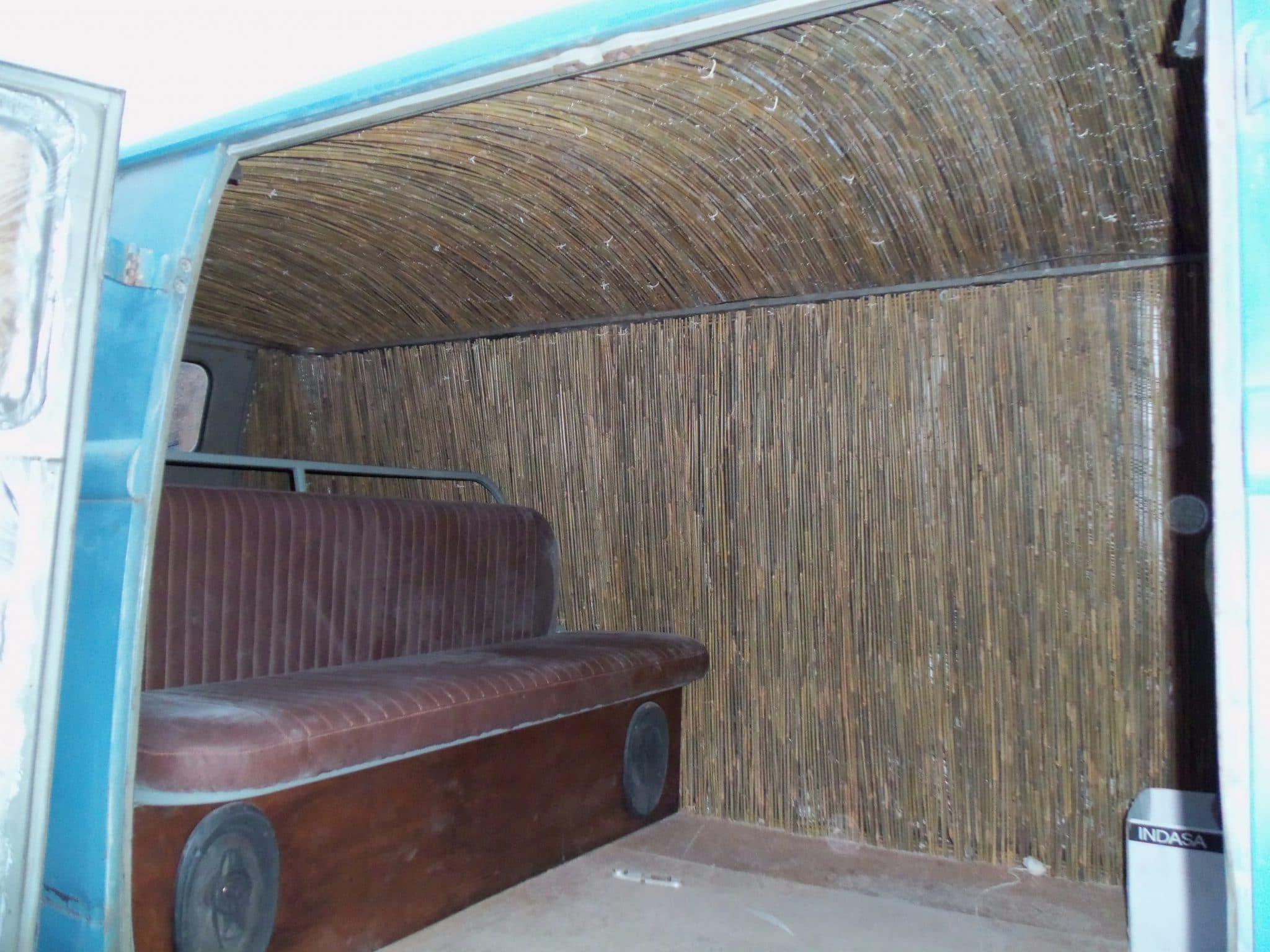 VW camper van - leather car seat restoration