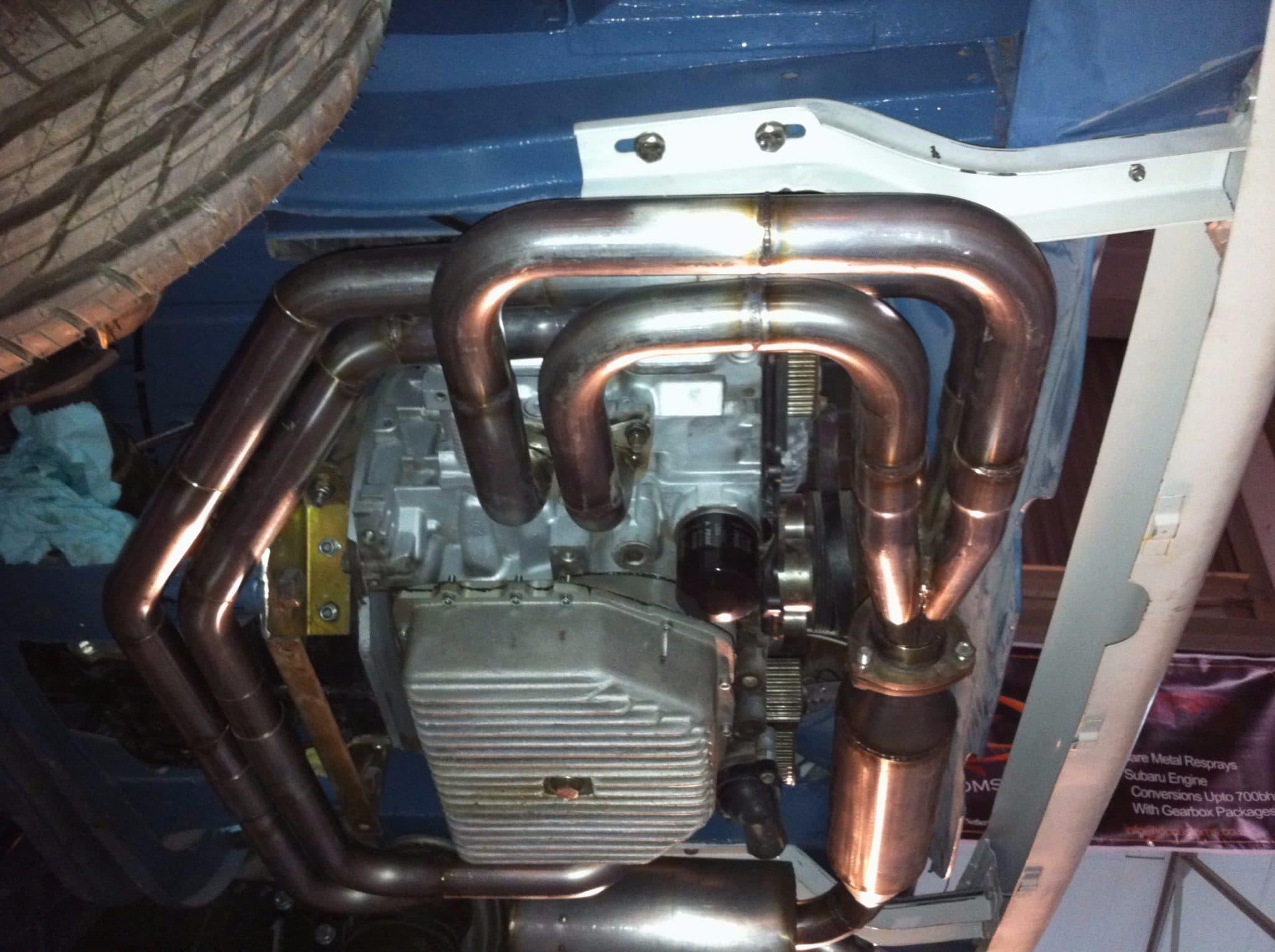 back camera - restoration of pipework - engine