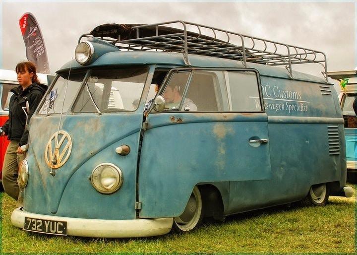 VW camper van at festival