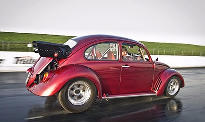 red 1969 Beetle restoration