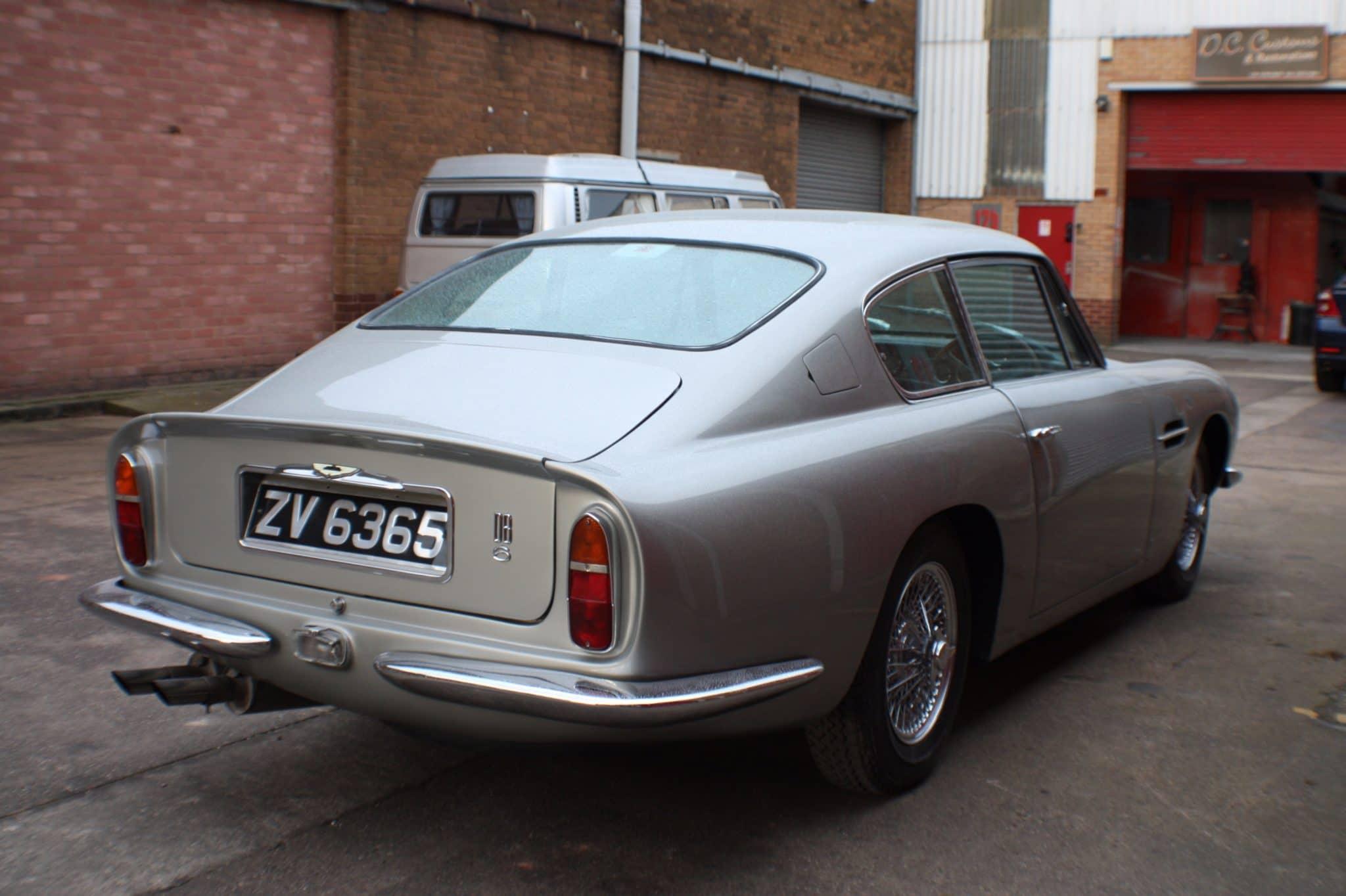 back view Aston Martin DB6