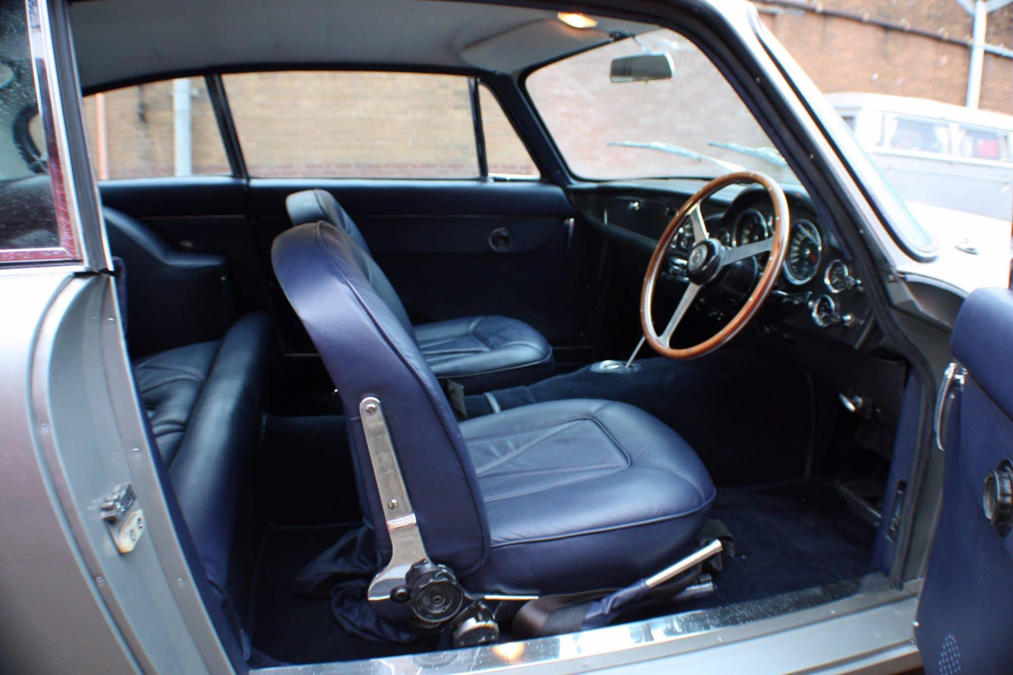 leather seat restoration - Aston Martin DB6
