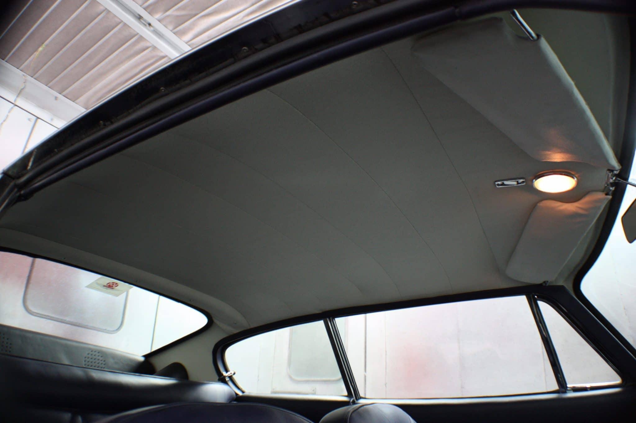 Aston Martin leather restoration head lining