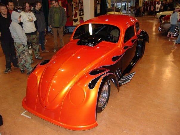 orange Beetle in showroom - front end