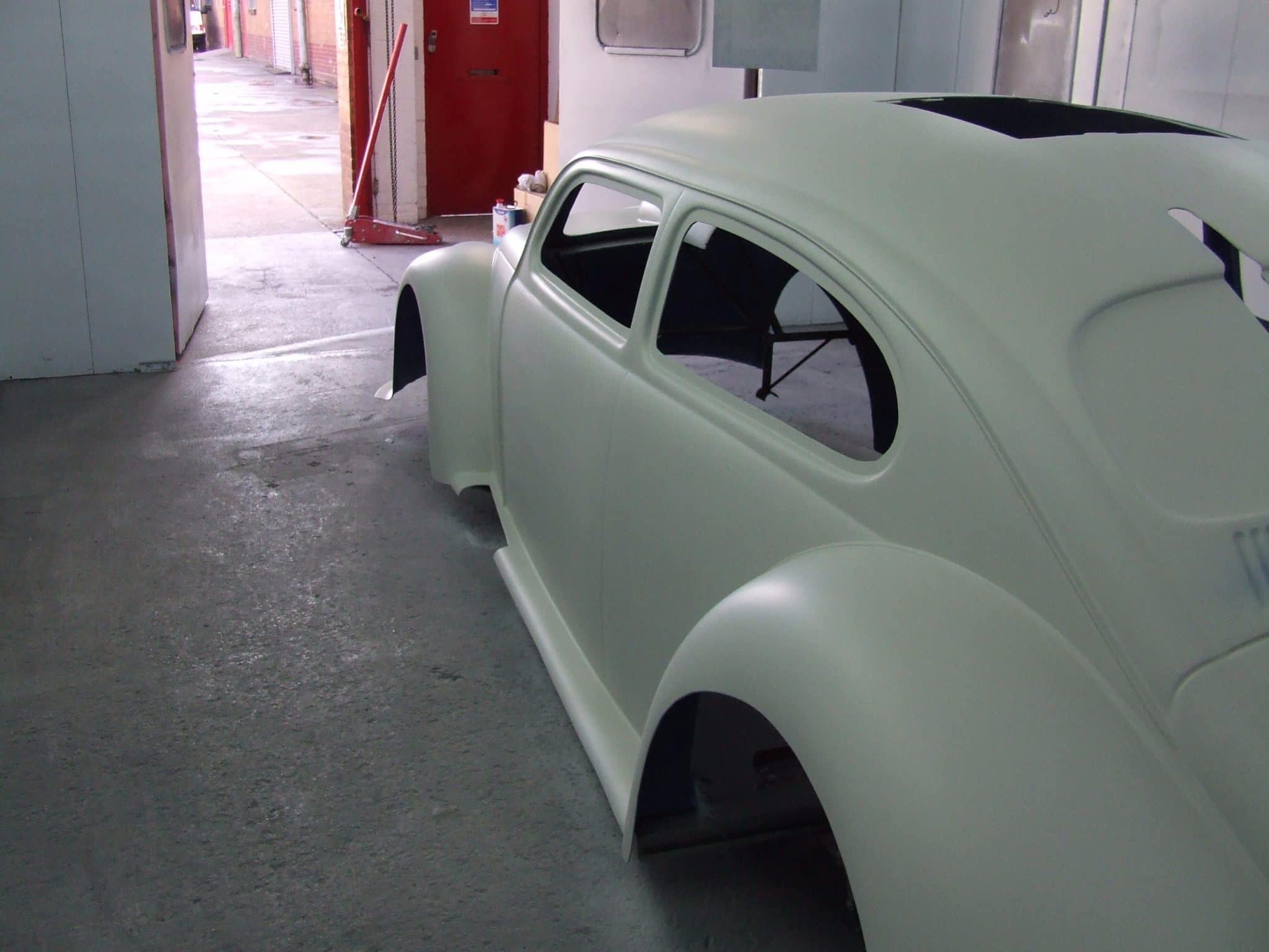 matt custom vintage car - mint Beetle