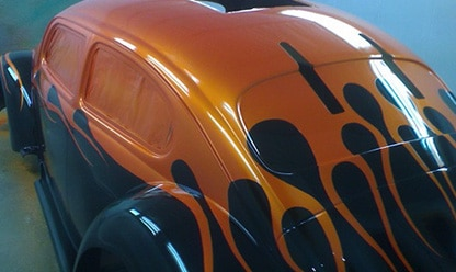 Flame-Beetle - orange and black pps
