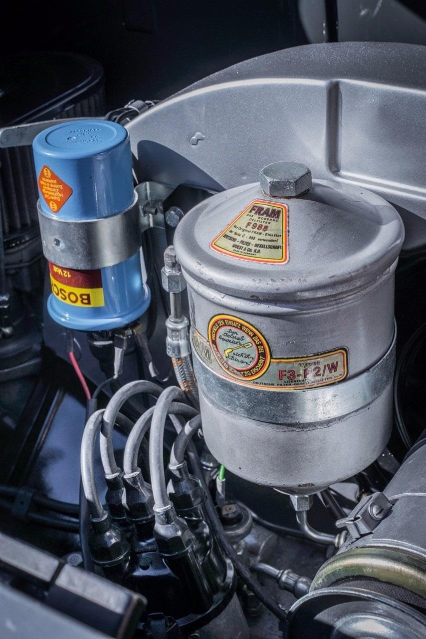 grey Porsche engine restoration