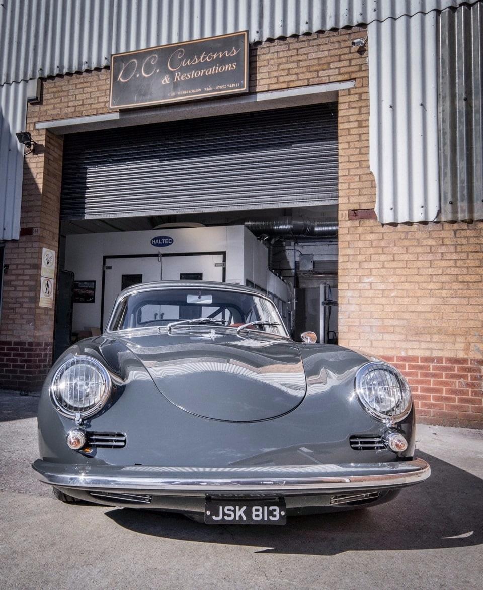 car ceramic coating grey Porsche