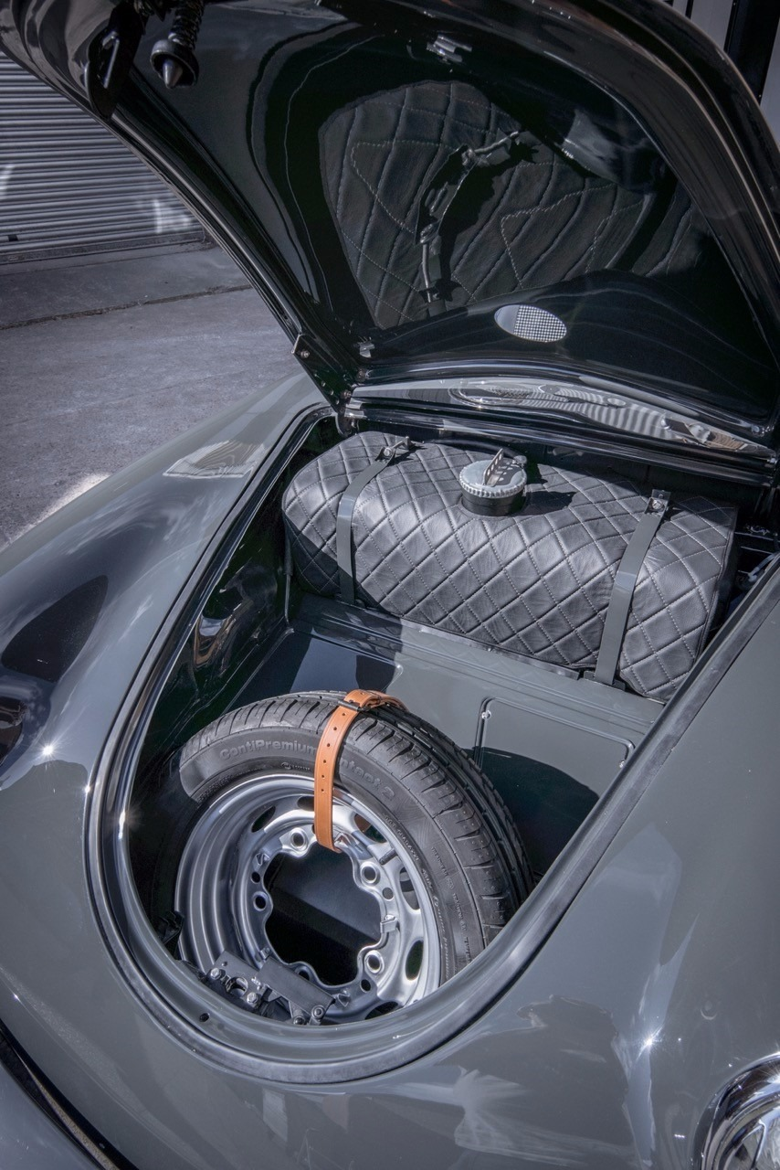 VW Beetle boot with spare tyre