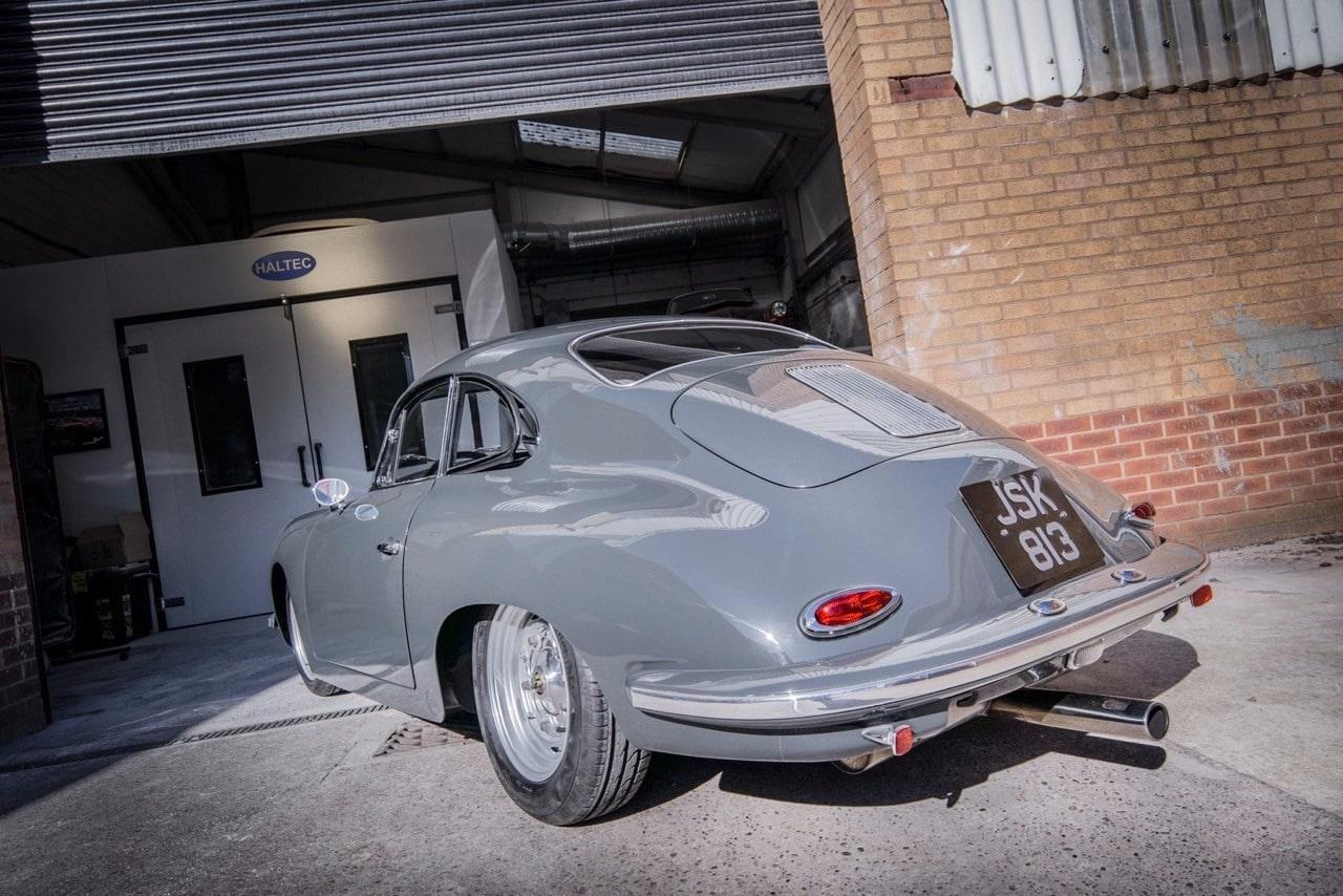 back view of Porsche