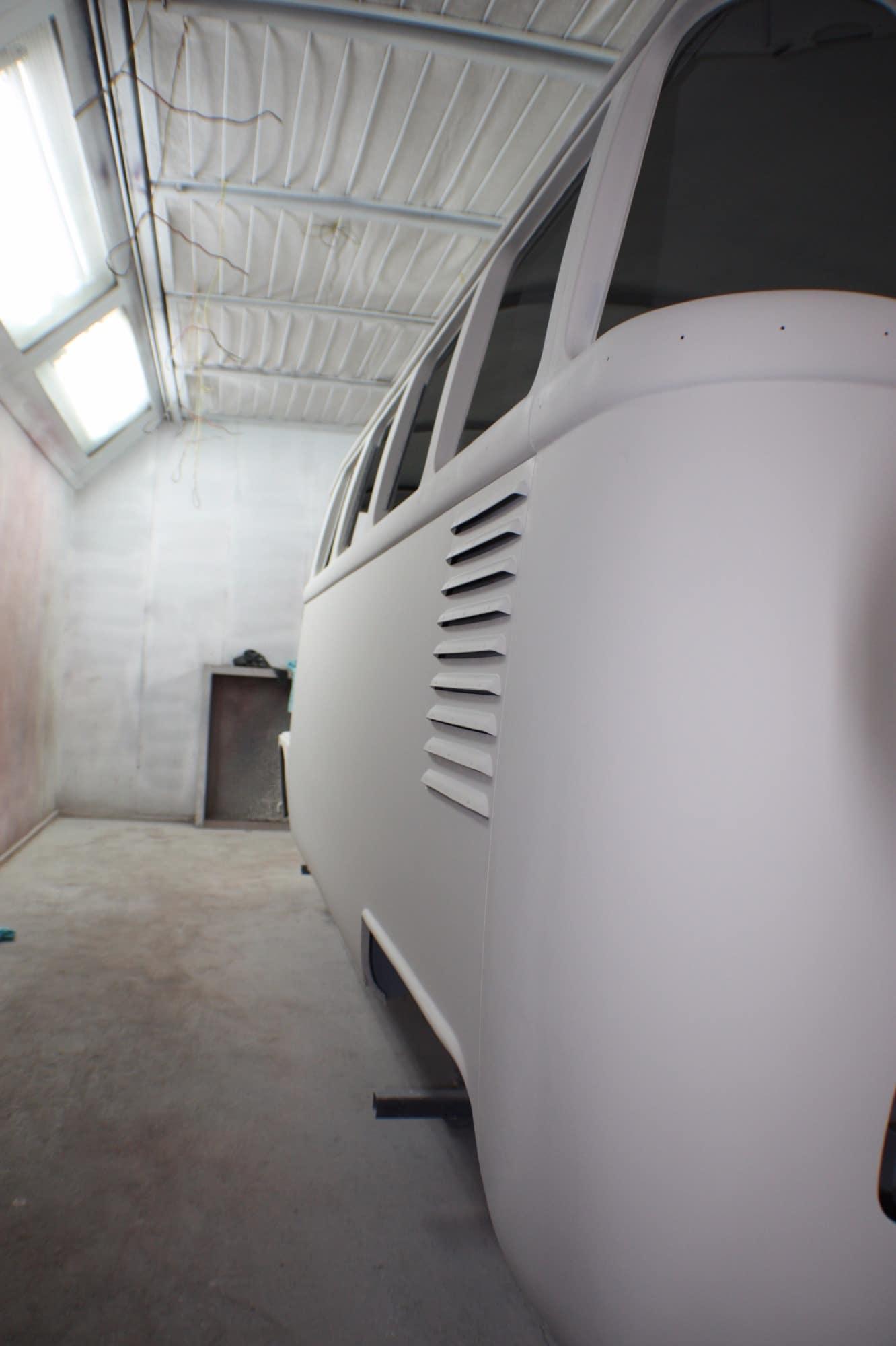 window splitty before restoration - white paint
