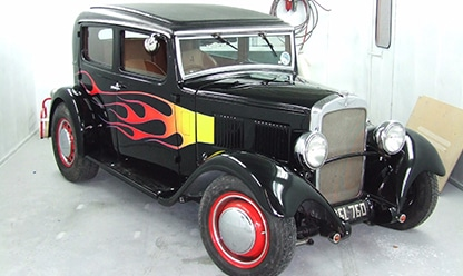 Austin flames side view