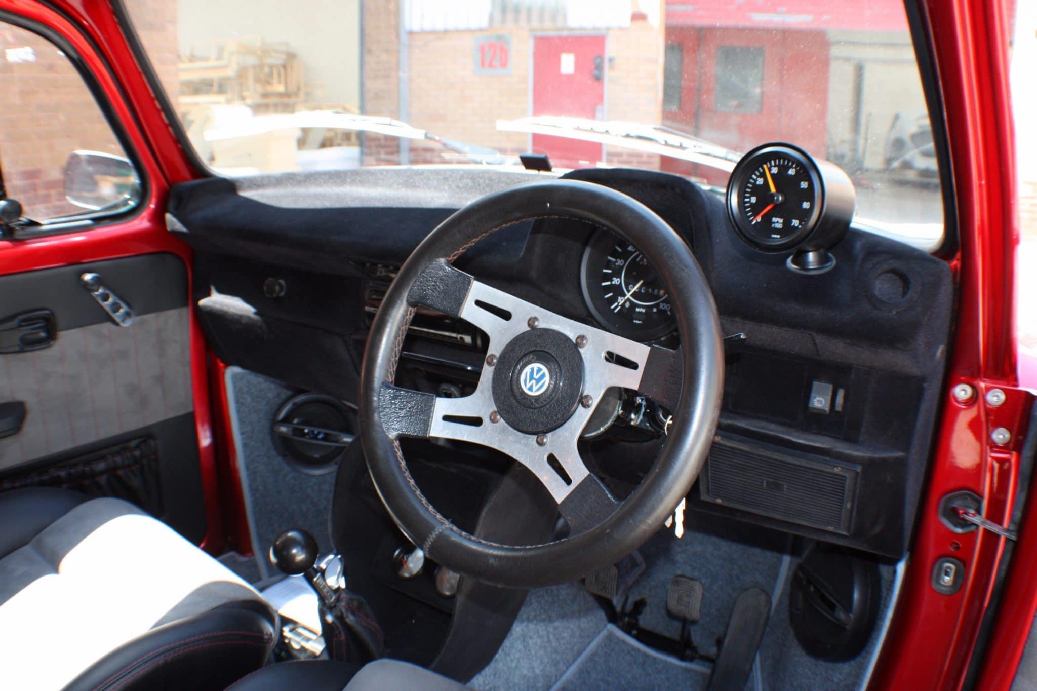 candy apple red beetle steering wheel