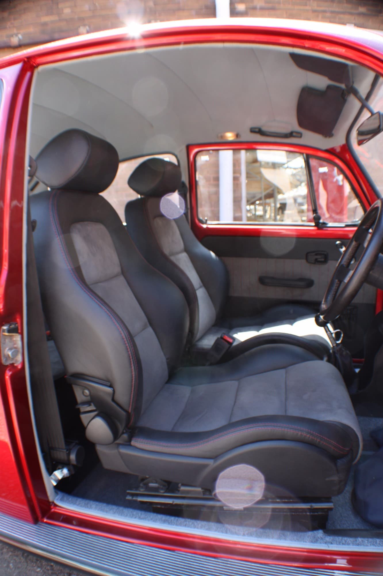 leather seat restoration candle apple red beetle