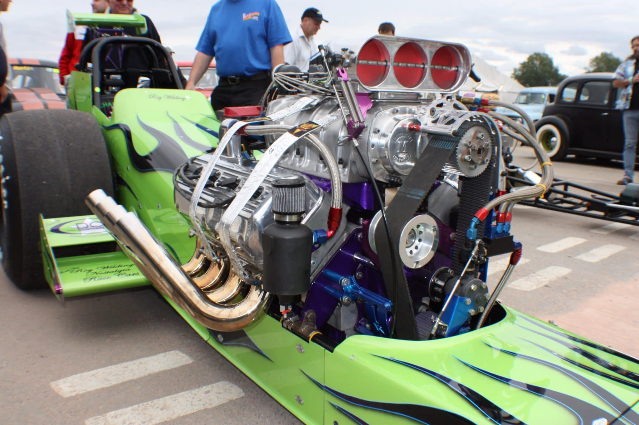 dragster engine close up