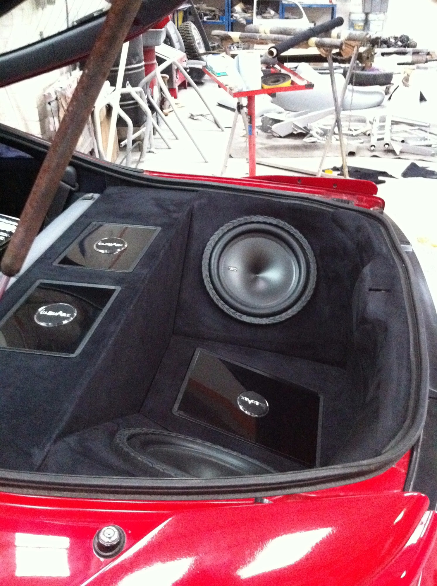 Mitsubishi Eclipse boot with built in surround sound