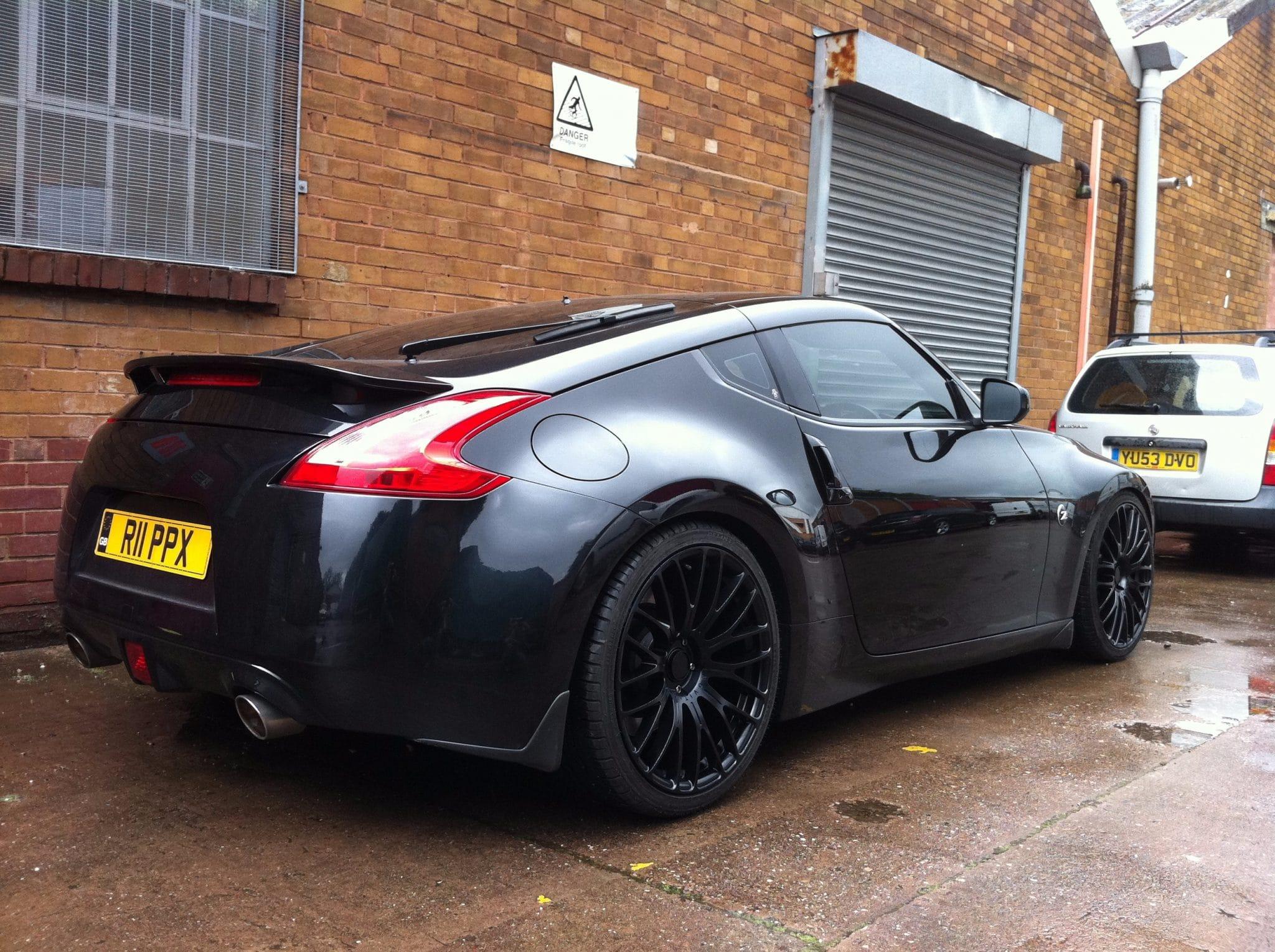 back end Nissan finished product - black