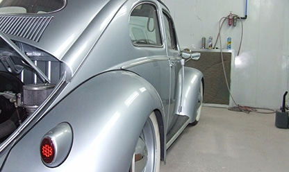 wheel arch - silver back view