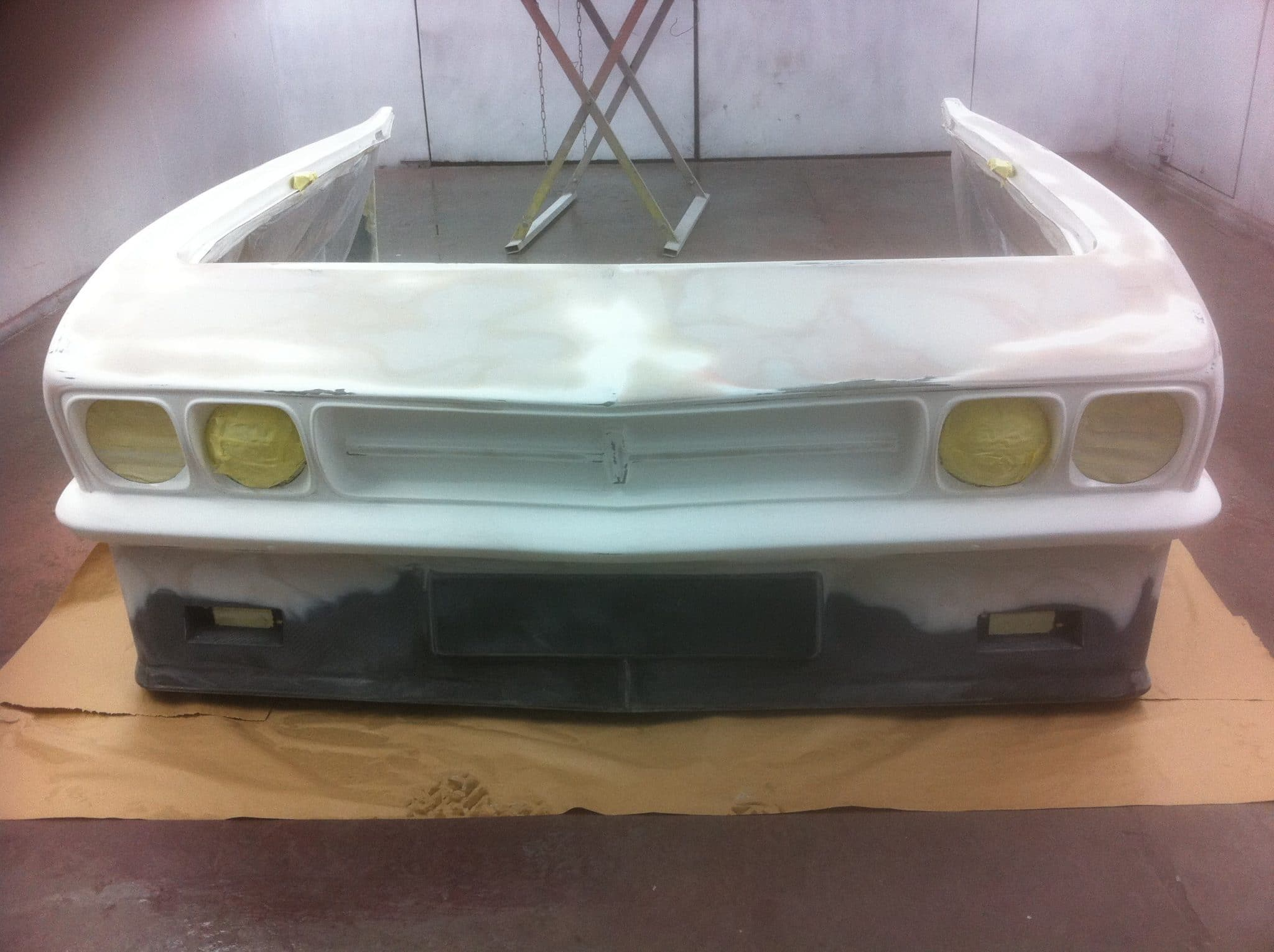 front end bumper stripped