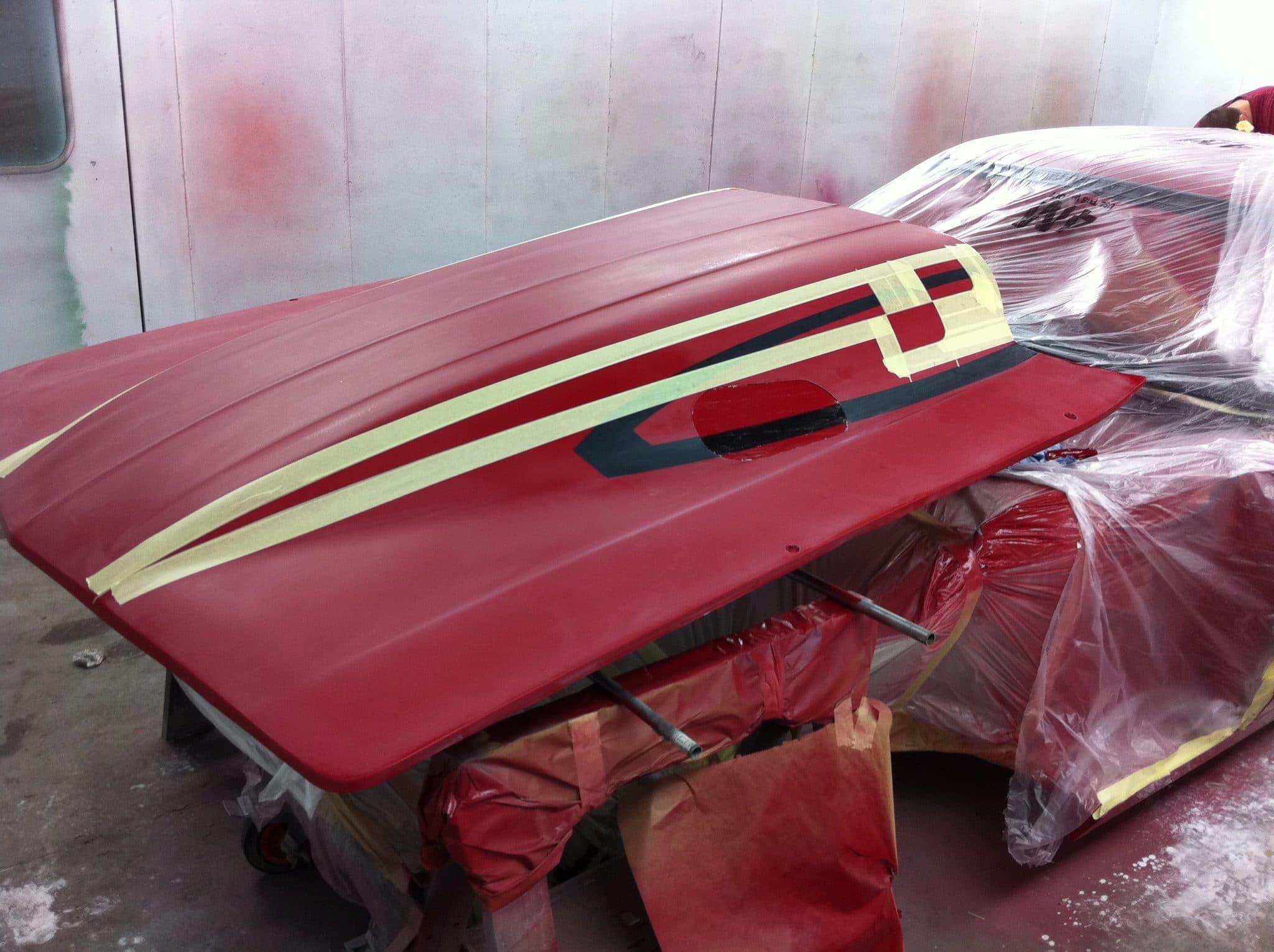 bumper restoration red victor 3