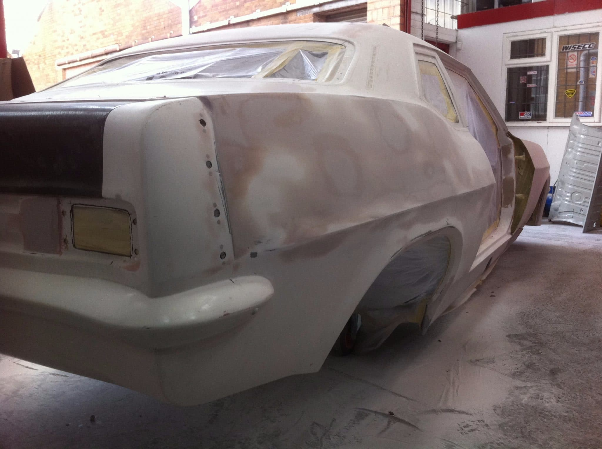car stripped ready for restoration ppf red victor